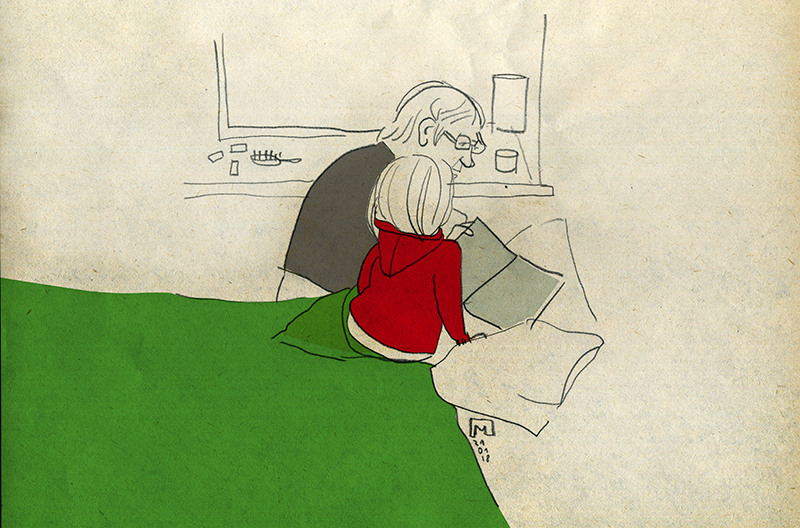 Maija_Liduma_illustration_Grandmother_grandchildren_book_reading_love